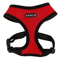 Puppia Soft Mesh Harness Red